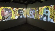 Myriam Thyes in der Einzelausstellung 'Malta als Metapher', Kunstverein Bochumer Kulturrat, Bochum, 2010-2011