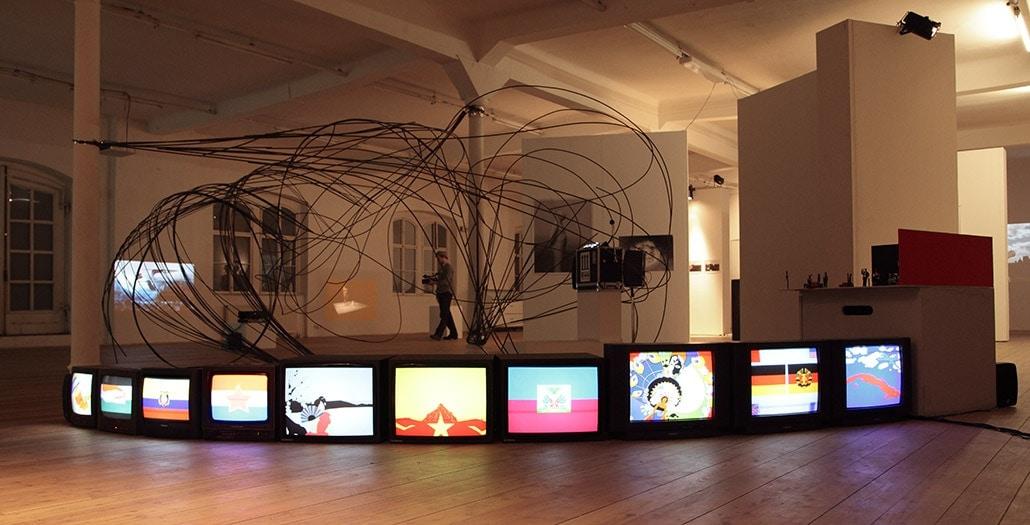 Myriam Thyes in der Gruppenausstellung 'Lieder aus dem Morast', Kunsthalle Exnergasse, Wien, Österreich, 2011