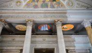 Artists' Conquest, 14.08.2021 – 31.10.2021, Gruppenausstellung, Schloss Pillnitz, Dresden. Myriam Thyes, 'Trisolaris Chinoiserie' (2021), 3-Kanal-Videoinstallation.