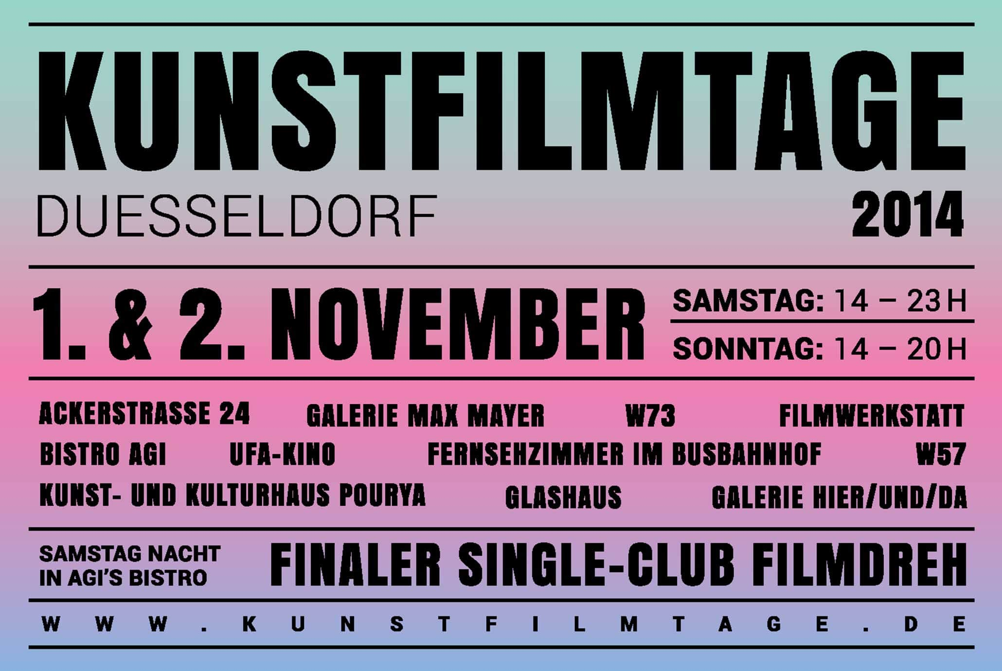 Kunstfilmtage Dusseldorf 2014 - excerpt of the poster
