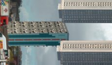 Myriam Thyes, Apotheosis of Glasgow High-rises (2013-2014), HD Video für Projektion an die Decke, 6:30, stereo