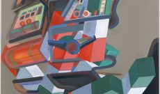 Déconstructions Européennes (1990), Spielzeug, Öl auf Baumwolle, 190 x 120 cm.