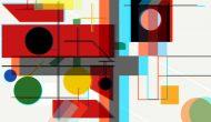Myriam Thyes, Kreuz und Fläche zu Raum (2017) Stereoskopische 3D-Animation, HD Video, 8:05, Loop, Farbe, stereo, für Projektion an die Decke. Musik: Eva-Maria Houben