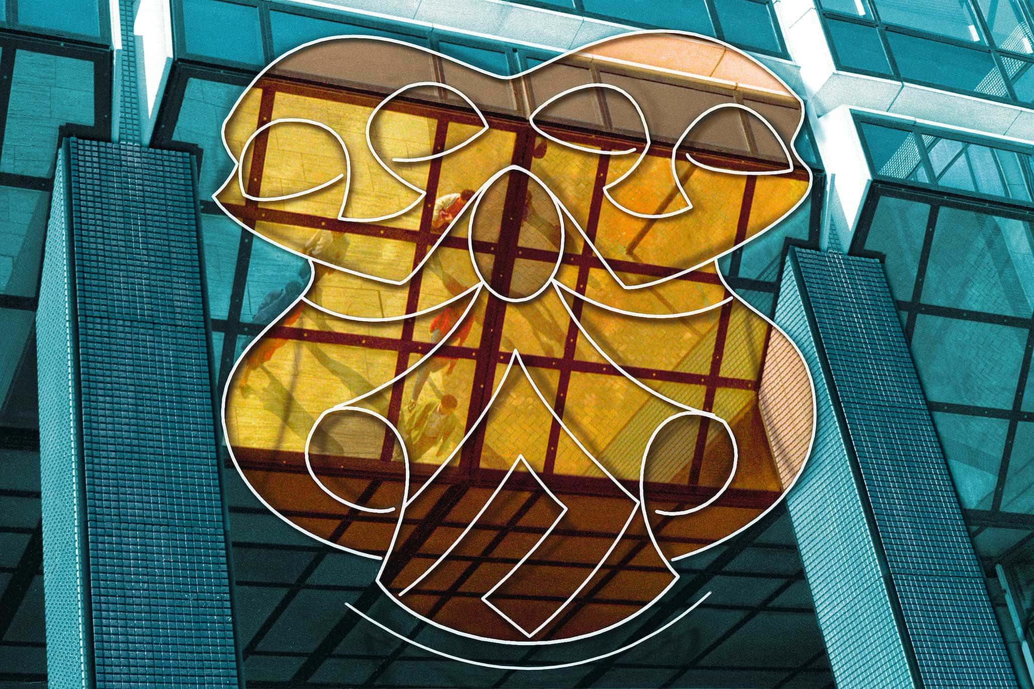 Petites Permissions (à La Défense), Myriam Thyes, 1999 - 2003, 9 C-Prints auf Alu-Dibond,  je 90 x 135 cm.