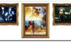Restauration (1996-2008), Digitale Fotomontagen als Triptycon, je 110 x 260 cm (oder 6 einzelne Bilder). C-Prints hinter Acrylglas auf Alu-Dibond. Titel dieser Montage: Vater und Sohn | Erlöser | Mutter und Sohn.