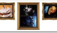Restauration (1996-2008), Digitale Fotomontagen als Triptycon, je 110 x 260 cm (oder 6 einzelne Bilder). C-Prints hinter Acrylglas auf Alu-Dibond. Titel dieser Montage: Tod (Hölle) | Bekehrter | Madonna.