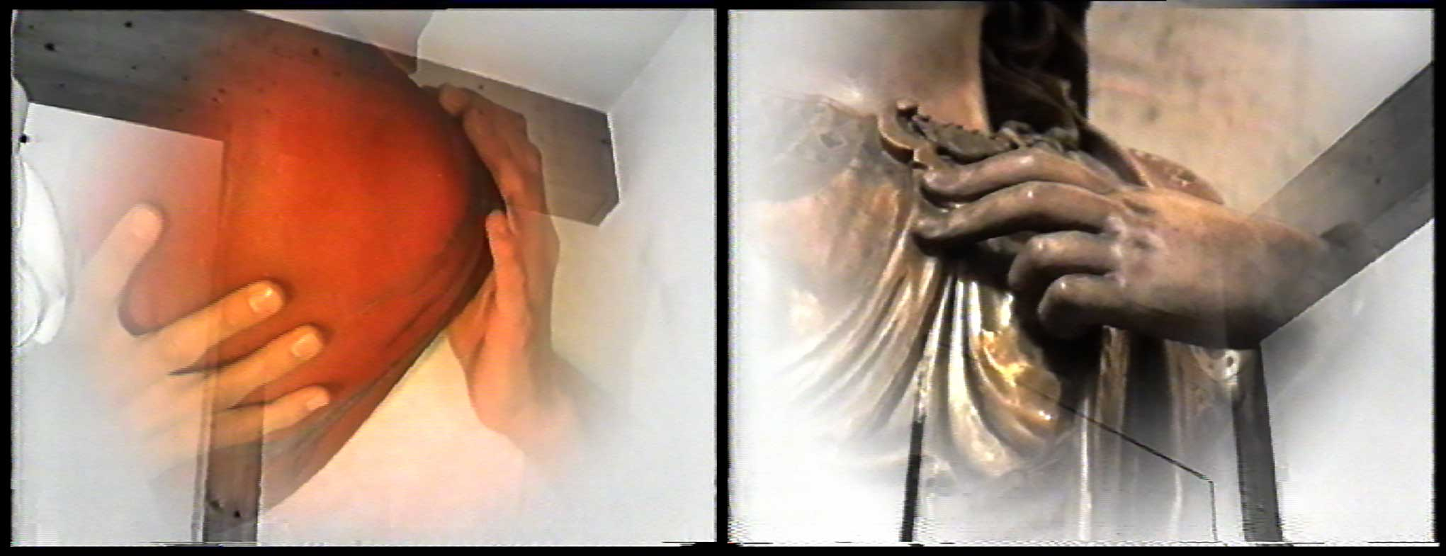 Myriam Thyes, Wer hat Maria ermordet? (1995), U-matic Lowband Pal, digitalisiert, 17:30, s/w und Farbe, stereo. 2 Videostills.